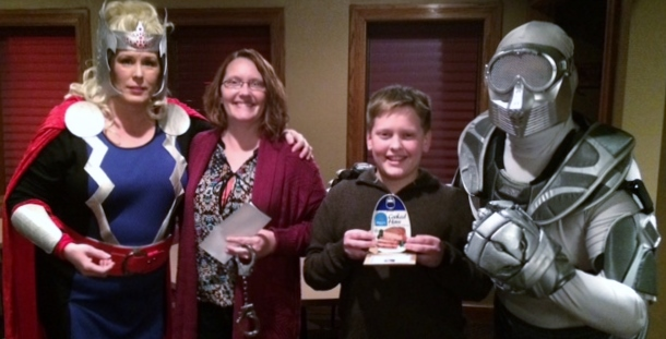 Wendy Harpel won the Super Sleuth and Ryan Sullivan the Hammy.