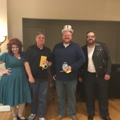 Winners from the 2/17/18 show at the Library Restaurant