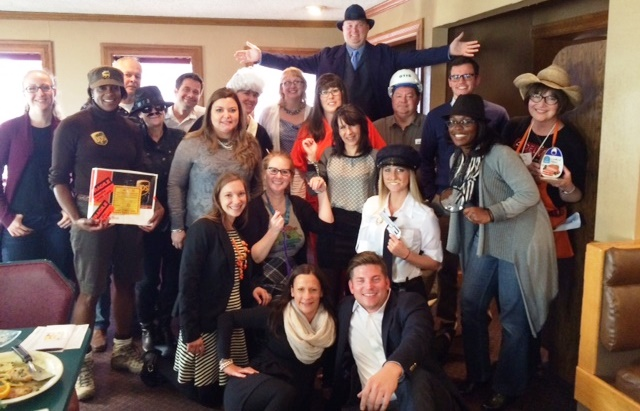 Delta Faucet enjoyed a murder mystery with us. They came in costume to add to their fun.