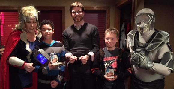 Winners Jaden Barnes, Chris Janowak and David Pate