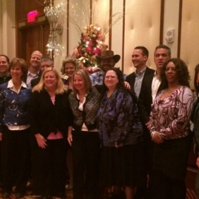 This is all the volunteers that had fun at the Wellpoint- Anthem Holiday party.